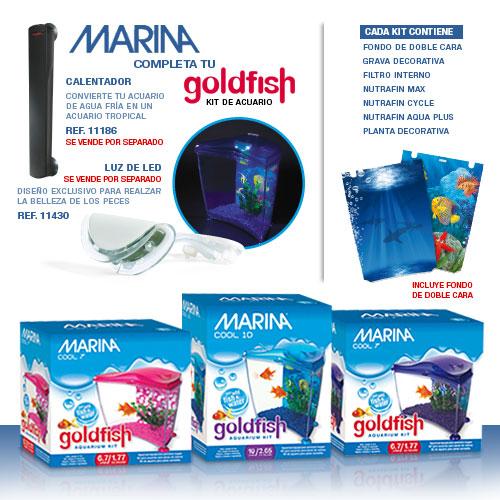 acuario para agua fria goldfish kit azul marina 0