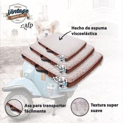 Colchoneta viscoelástica vintage para perros
