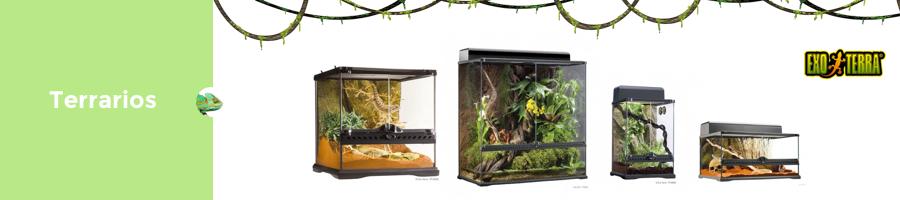 Terrarios para tortugas de agua y tierra, iguanas y camaleones
