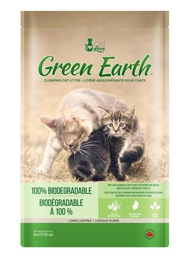 Arena para Gatos Biodegradable Green Earth CAT LOVE 8 kg