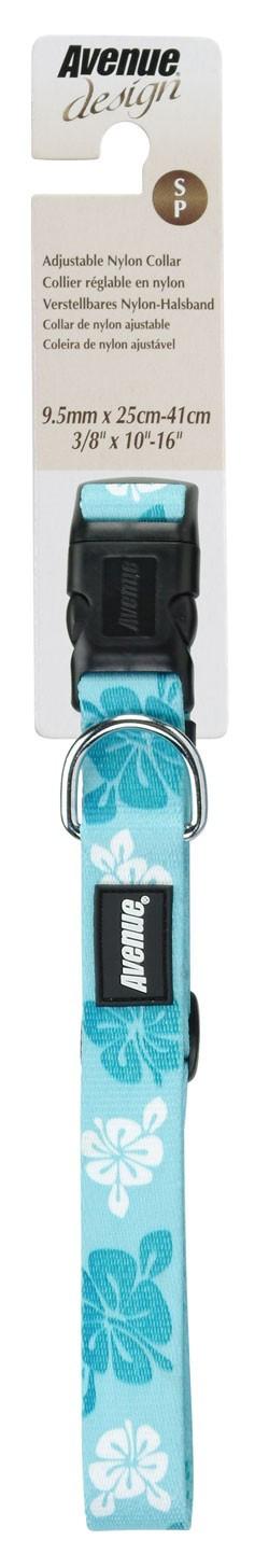 Correa y Collar Ajustable Nylon Hawái Azul AVENUE