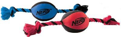 Pelota sonora con cuerda Nerf