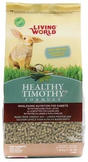 Pienso Timothy Health 1,10kg Conejo (Caja 4 Und) LIVING WORLD