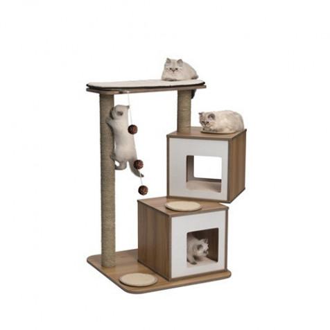 Rascador para gatos V-Doble VESPER blanco