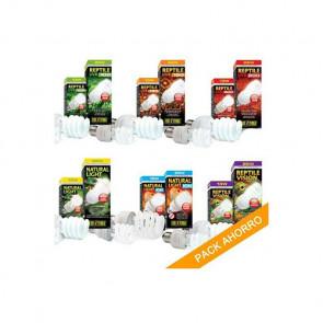 Pack ahorro de bombillas de bajo consumo EXOTERRA