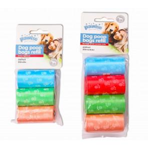 Pawise Rollos de 20 Bolsitas para Excrementos Multicolor